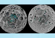 Moon surface Ice