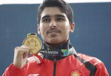 saurabh chaudhury wins gold