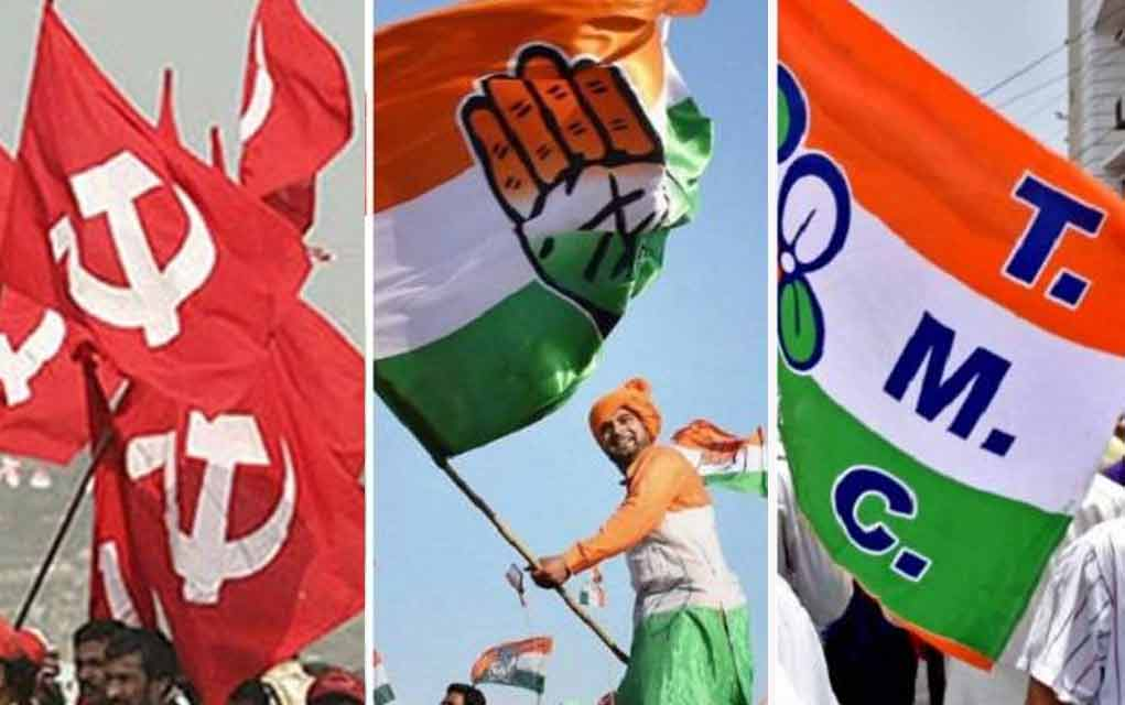 congress and CPIM and TMC flag