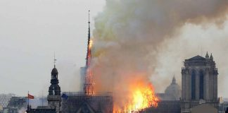 fire in Notre-Dame