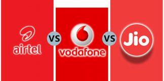 Jio Vodafone Airtel