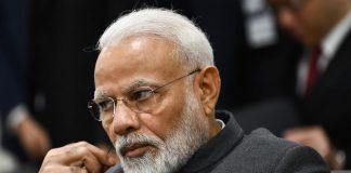 Narendra Modi sad