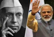 narendra modi and jawaharlal nehru