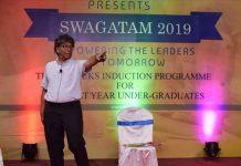 Prof. Supriya Chakrabarti delivering his lecture
