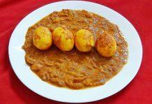 egg prawn curry