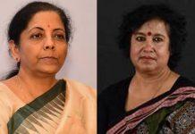 Taslima Nasreen and Nirmala Sitharaman