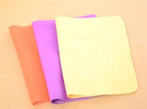 swabs Chamois Leather, PVA Towel (Pack of 3, Multicolor)